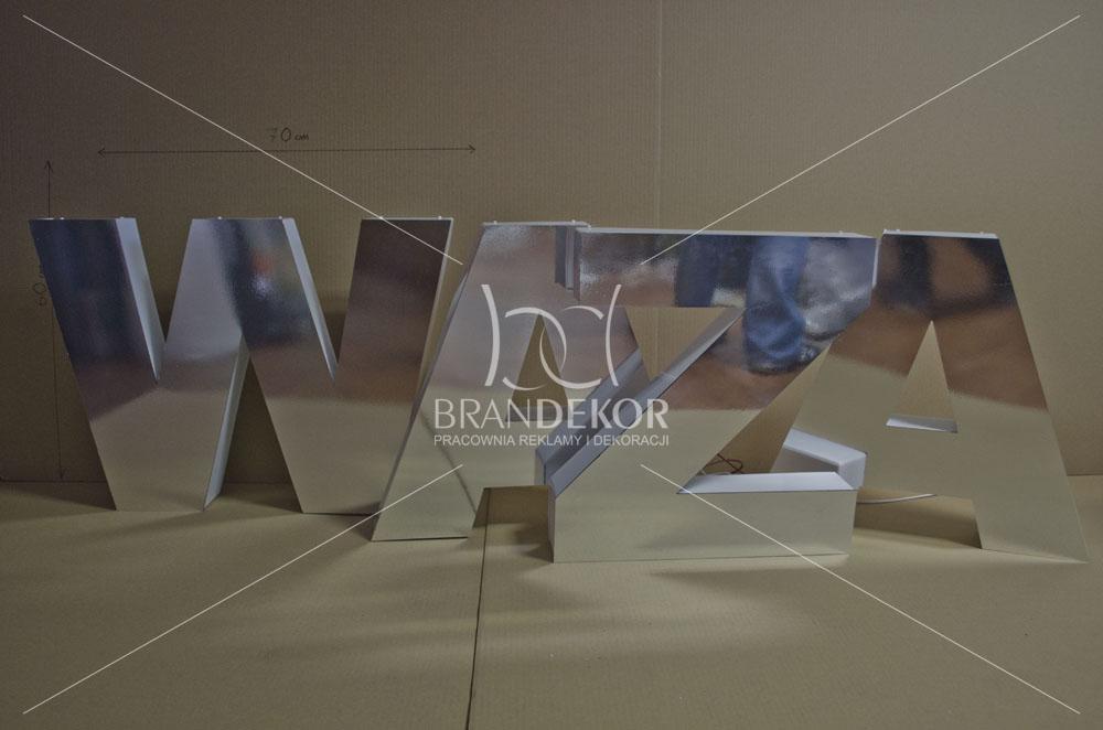 Litery 3d Podświetlane Z Plexi Przedstawiamy Niecodzienną