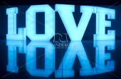 LOVE (3D z plexi LED RGB)